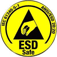 ESD safe certification logo